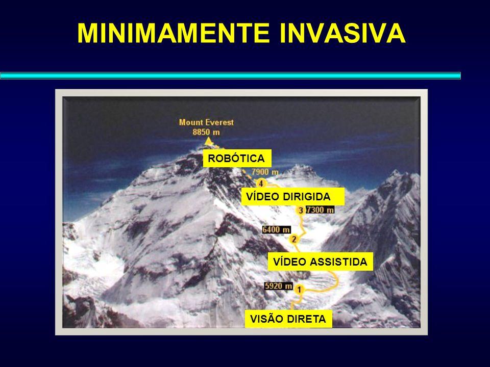 MINIMAMENTE INVASIVA VISÃO DIRETA VÍDEO ASSISTIDA VÍDEO DIRIGIDA ROBÓTICA