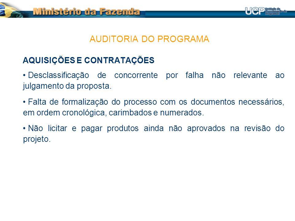AQUISIÇÕES E CONTRATAÇÕES Desclassificação de concorrente por falha não relevante ao julgamento da proposta.