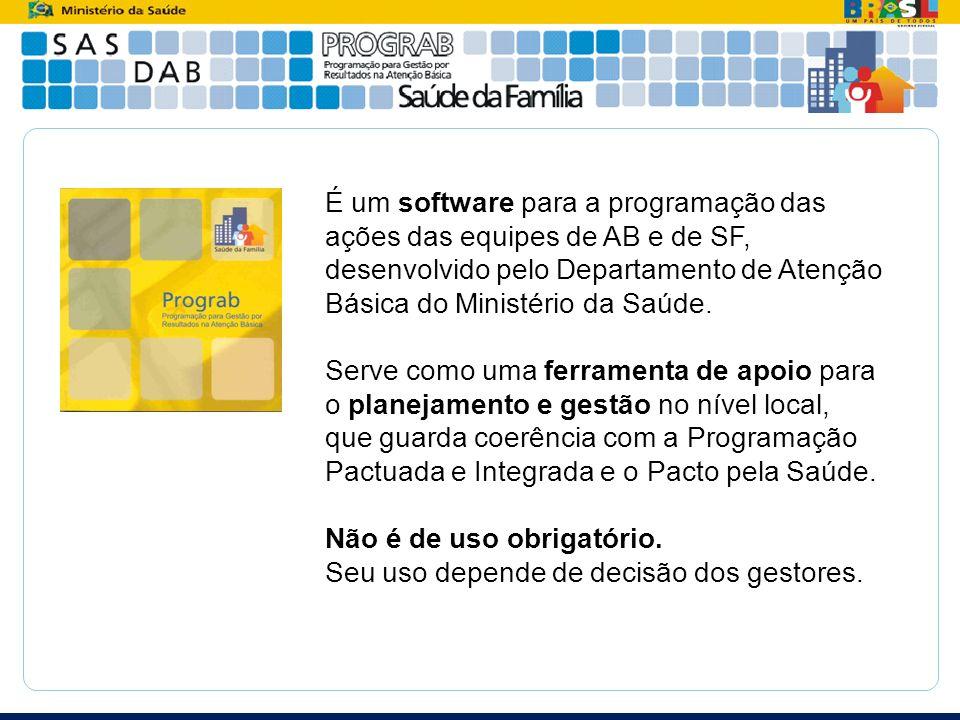 É um software para a programação das ações das equipes de AB e de SF, desenvolvido pelo Departamento de Atenção Básica do Ministério da Saúde. Serve c