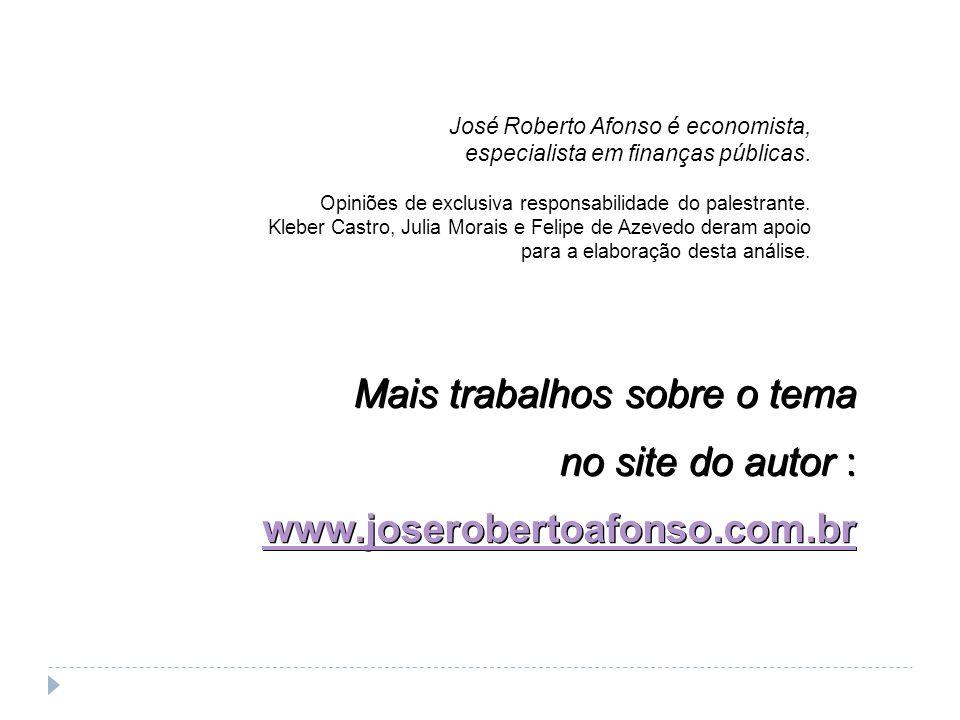 Mais trabalhos sobre o tema no site do autor : www.joserobertoafonso.com.br Mais trabalhos sobre o tema no site do autor : www.joserobertoafonso.com.b
