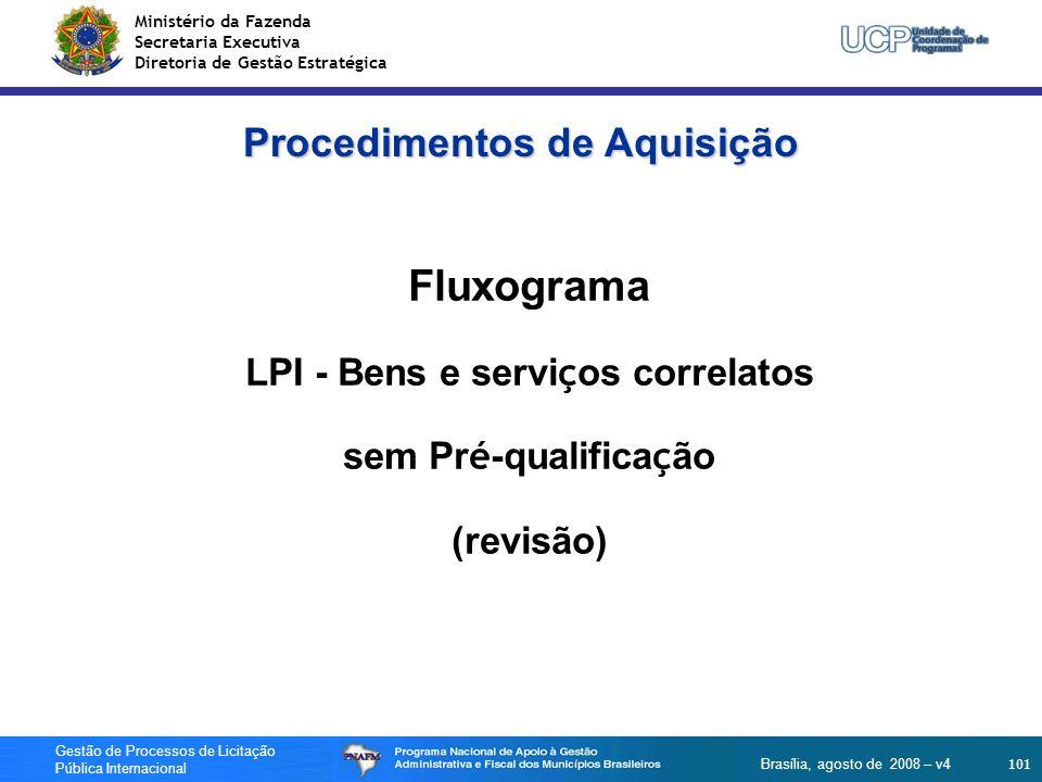 Ministério da Fazenda Secretaria Executiva Diretoria de Gestão Estratégica 101 Gestão de Processos de Licitação Pública Internacional Brasília, agosto