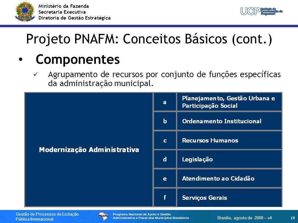 Ministério da Fazenda Secretaria Executiva Diretoria de Gestão Estratégica 18 Gestão de Processos de Licitação Pública Internacional Brasília, agosto