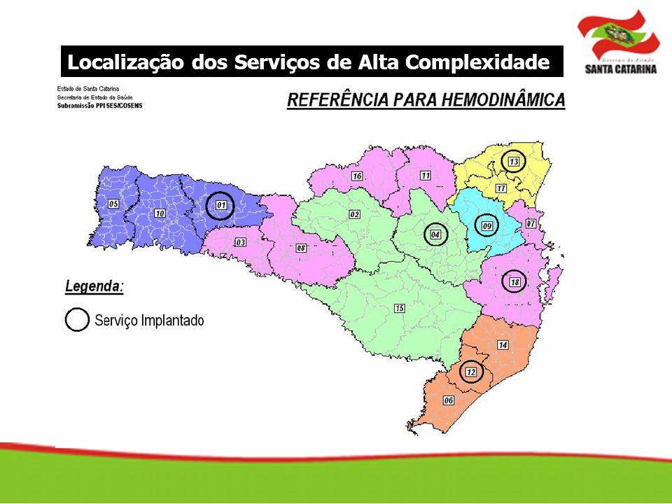 Localização dos Serviços de Alta Complexidade