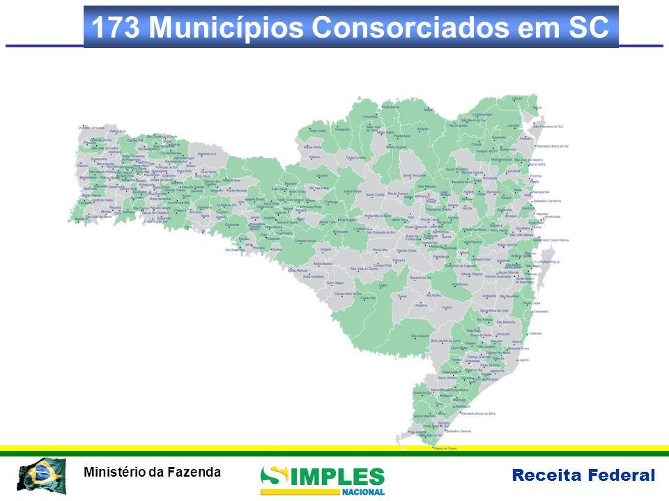 Receita Federal Ministério da Fazenda 173 Municípios Consorciados em SC