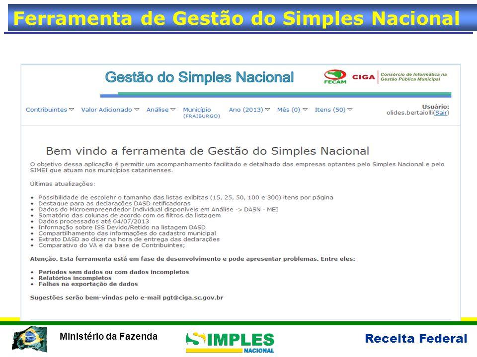 Receita Federal Ministério da Fazenda Ferramenta de Gestão do Simples Nacional