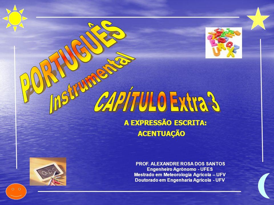 PROF. ALEXANDRE ROSA DOS SANTOS Engenheiro Agrônomo - UFES Mestrado em Meteorologia Agrícola – UFV Doutorado em Engenharia Agrícola - UFV A EXPRESSÃO