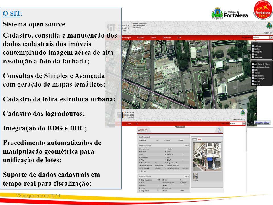 O SIT: Sistema open source Cadastro, consulta e manutenção dos dados cadastrais dos imóveis contemplando imagem aérea de alta resolução a foto da fach