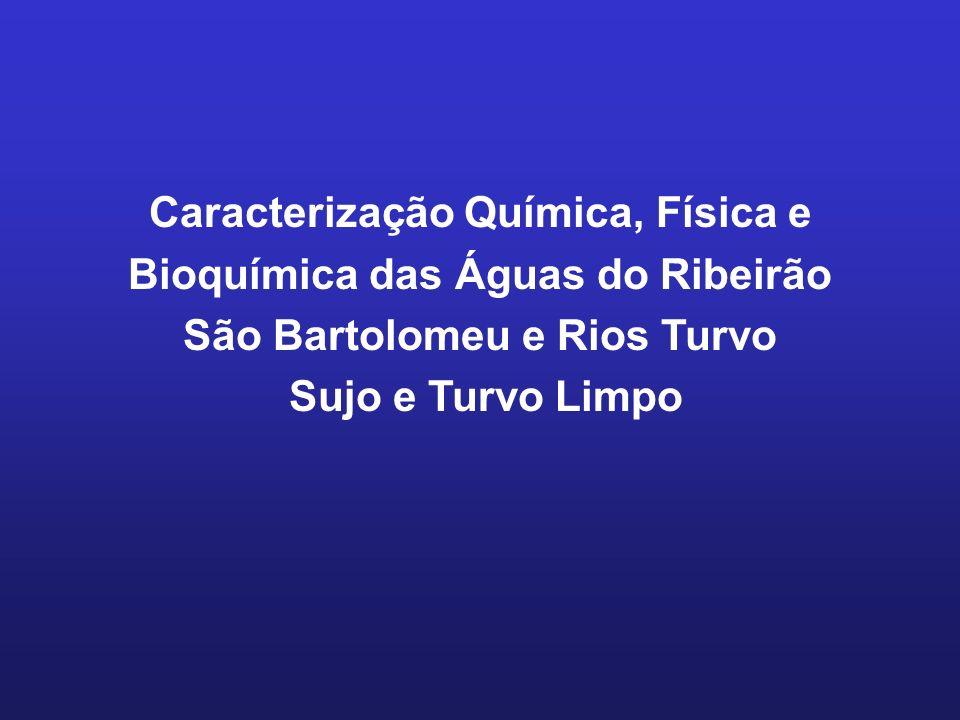 Caracterização Química, Física e Bioquímica das Águas do Ribeirão São Bartolomeu e Rios Turvo Sujo e Turvo Limpo