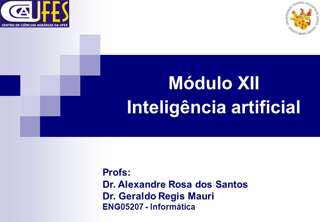 Módulo XII Inteligência artificial Profs: Dr. Alexandre Rosa dos Santos Dr. Geraldo Regis Mauri ENG05207 - Informática