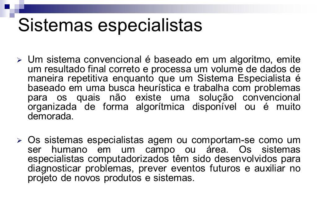 Um sistema convencional é baseado em um algoritmo, emite um resultado final correto e processa um volume de dados de maneira repetitiva enquanto que u
