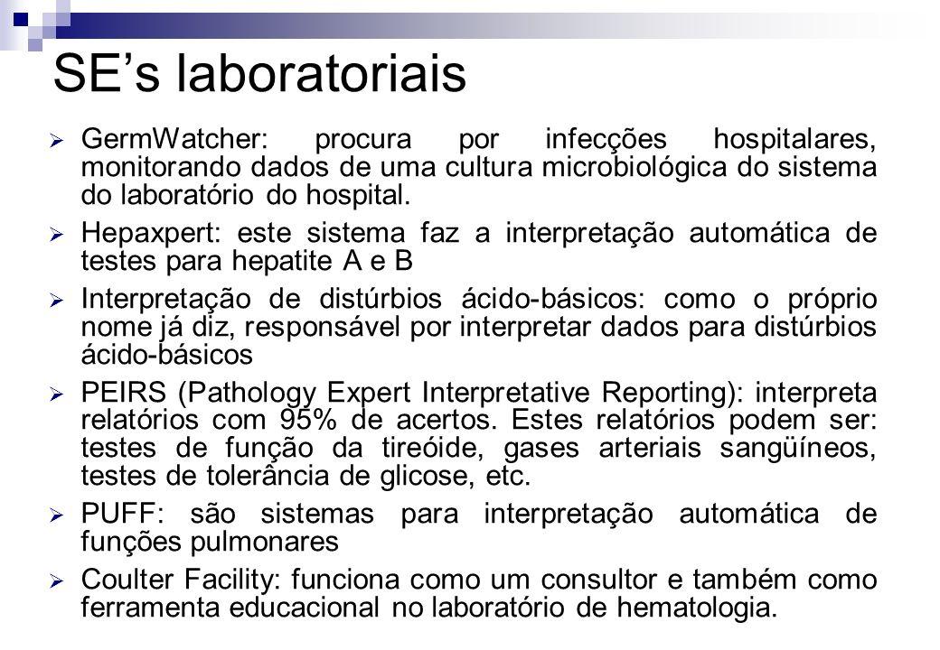 GermWatcher: procura por infecções hospitalares, monitorando dados de uma cultura microbiológica do sistema do laboratório do hospital. Hepaxpert: est