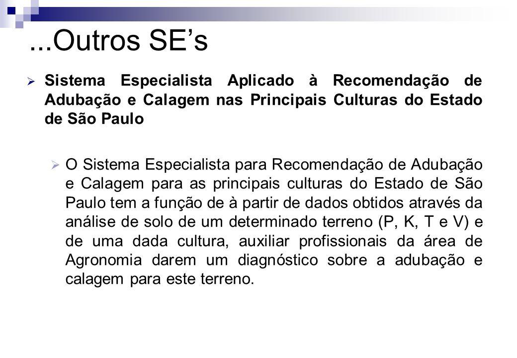 Sistema Especialista Aplicado à Recomendação de Adubação e Calagem nas Principais Culturas do Estado de São Paulo O Sistema Especialista para Recomend