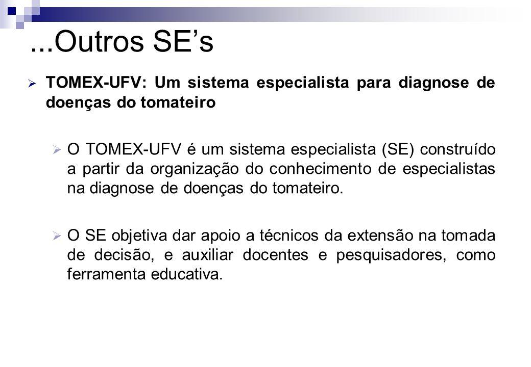 TOMEX-UFV: Um sistema especialista para diagnose de doenças do tomateiro O TOMEX-UFV é um sistema especialista (SE) construído a partir da organização