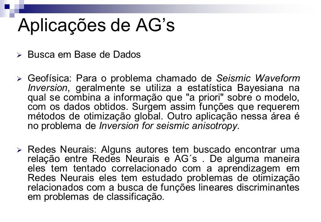 Busca em Base de Dados Geofísica: Para o problema chamado de Seismic Waveform Inversion, geralmente se utiliza a estatística Bayesiana na qual se comb