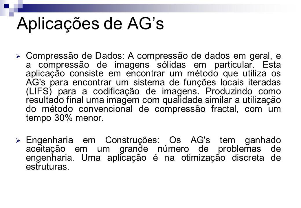 Compressão de Dados: A compressão de dados em geral, e a compressão de imagens sólidas em particular. Esta aplicação consiste em encontrar um método q