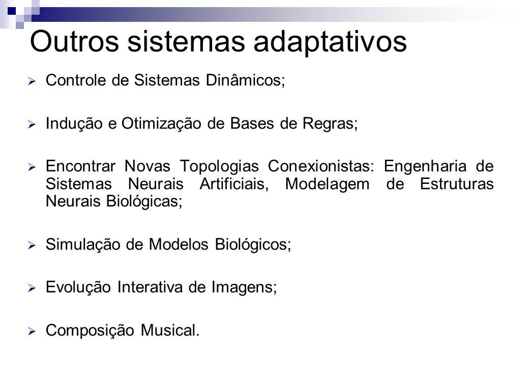 Controle de Sistemas Dinâmicos; Indução e Otimização de Bases de Regras; Encontrar Novas Topologias Conexionistas: Engenharia de Sistemas Neurais Arti