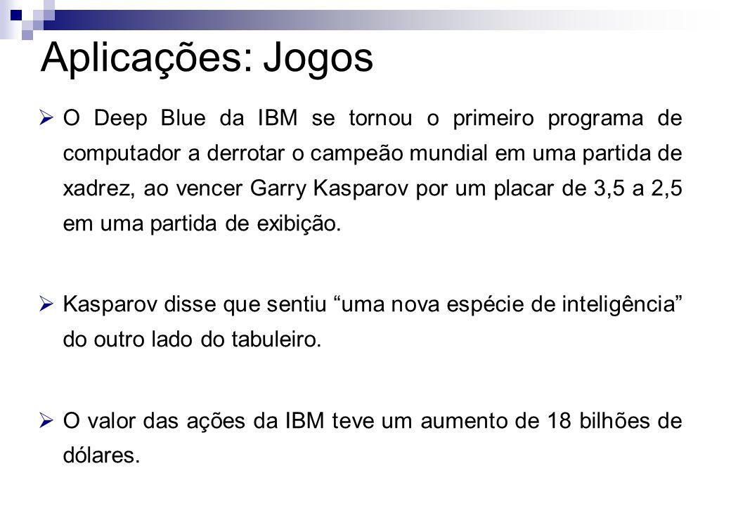 O Deep Blue da IBM se tornou o primeiro programa de computador a derrotar o campeão mundial em uma partida de xadrez, ao vencer Garry Kasparov por um