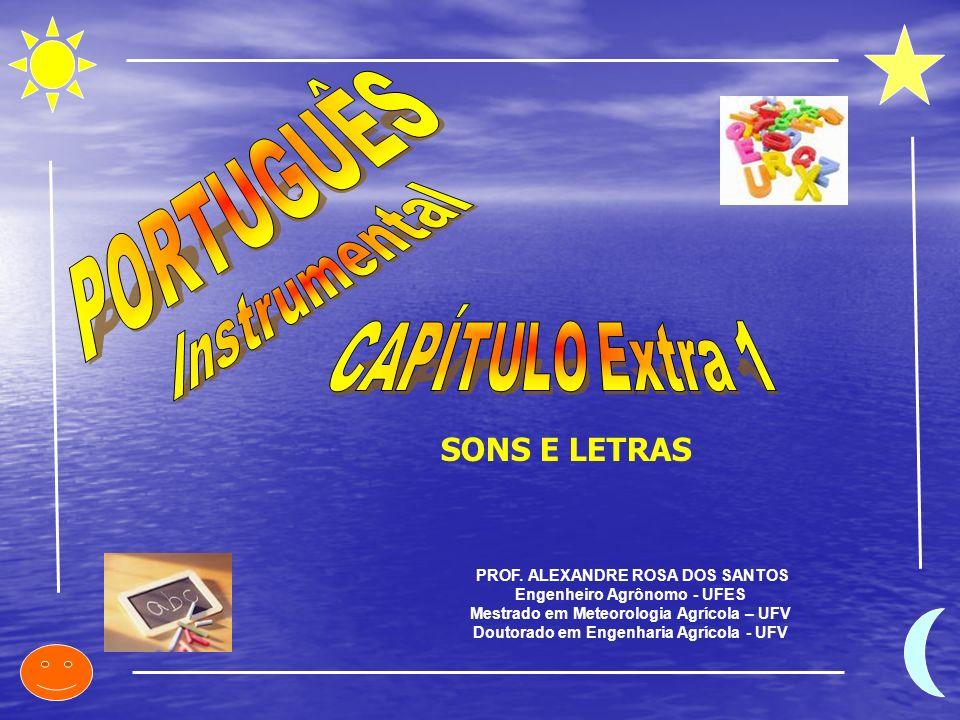 PROF. ALEXANDRE ROSA DOS SANTOS Engenheiro Agrônomo - UFES Mestrado em Meteorologia Agrícola – UFV Doutorado em Engenharia Agrícola - UFV SONS E LETRA