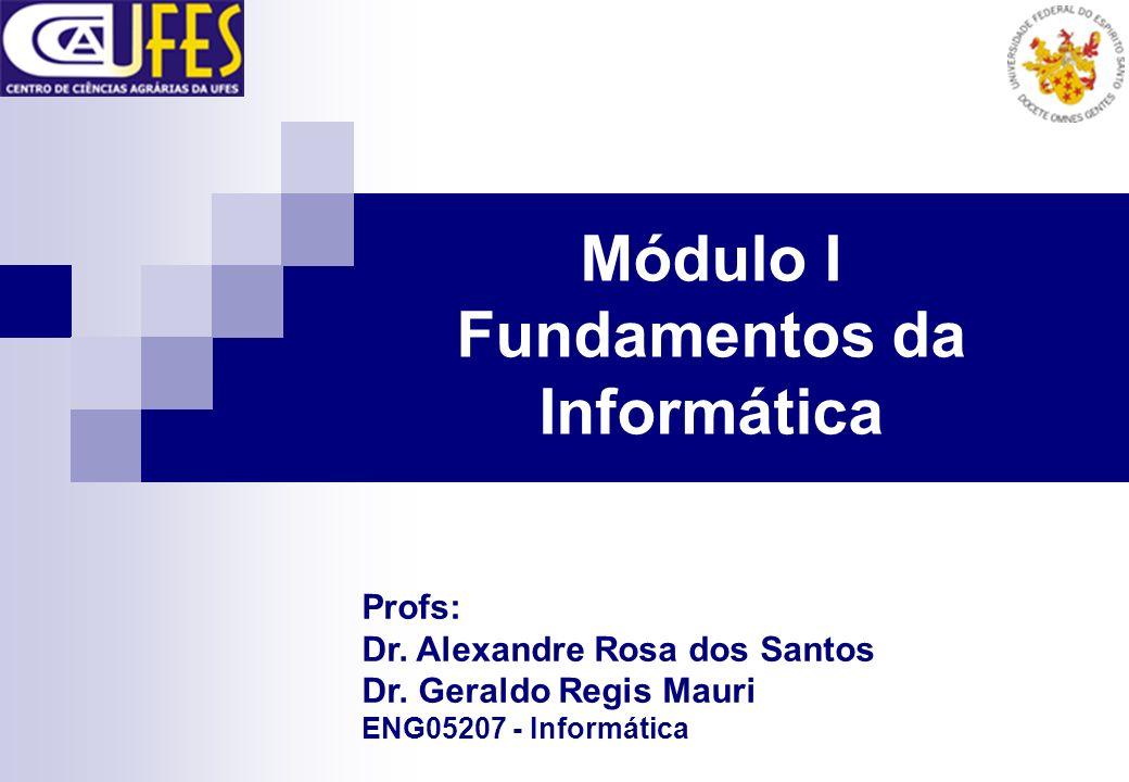 Módulo I Fundamentos da Informática Profs: Dr. Alexandre Rosa dos Santos Dr. Geraldo Regis Mauri ENG05207 - Informática
