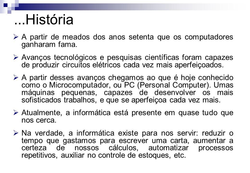 A partir de meados dos anos setenta que os computadores ganharam fama. Avanços tecnológicos e pesquisas científicas foram capazes de produzir circuito