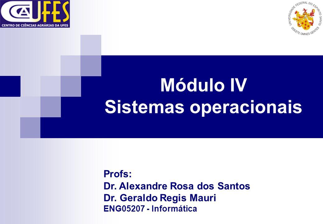 Módulo IV Sistemas operacionais Profs: Dr. Alexandre Rosa dos Santos Dr. Geraldo Regis Mauri ENG05207 - Informática