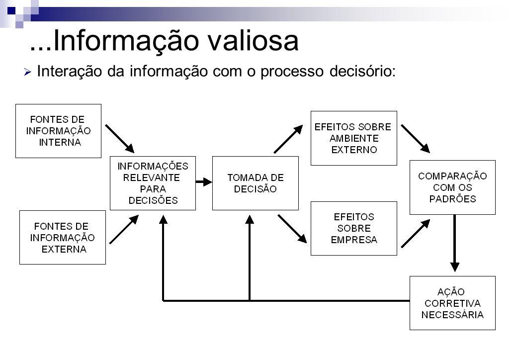 Interação da informação com o processo decisório: