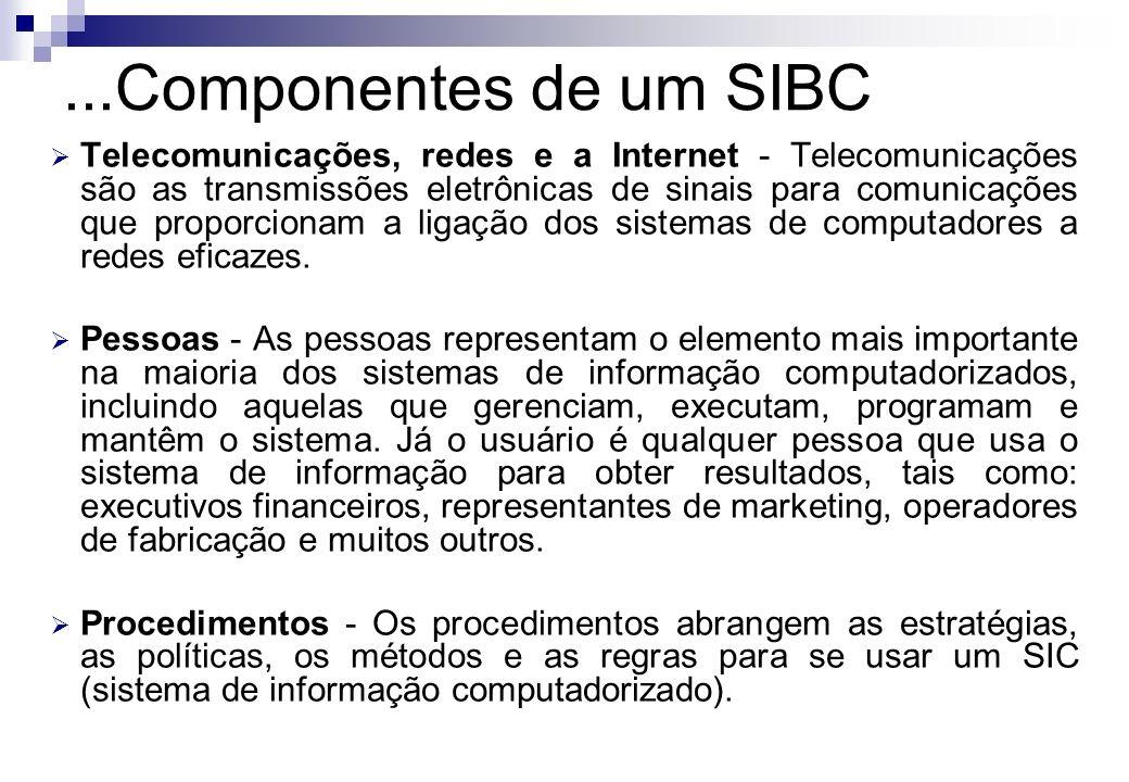 Telecomunicações, redes e a Internet - Telecomunicações são as transmissões eletrônicas de sinais para comunicações que proporcionam a ligação dos sis