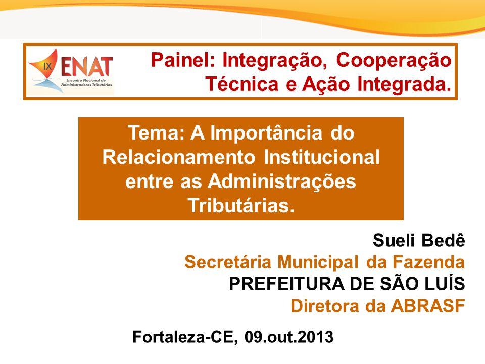 Painel: Integração, Cooperação Técnica e Ação Integrada.