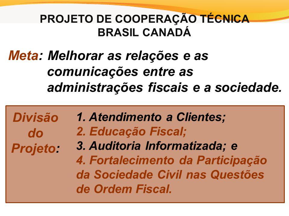 Meta: Melhorar as relações e as comunicações entre as administrações fiscais e a sociedade.
