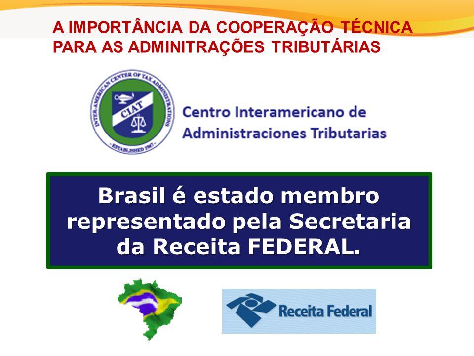 Brasil é estado membro representado pela Secretaria da Receita FEDERAL.