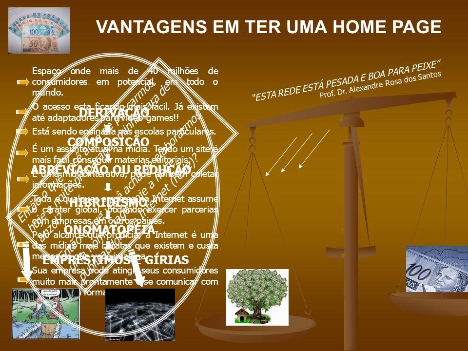 ETAPAS PARA CONFEÇÃO DA HOME-PAGE ACIMA