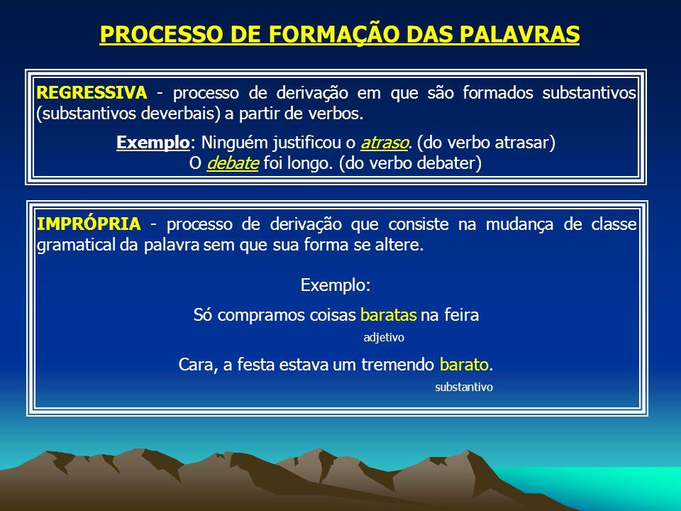 PROCESSO DE FORMAÇÃO DAS PALAVRAS 2 - COMPOSIÇÃO É o processo pelo qual a palavra é formada pela junção de dois ou mais radicais.