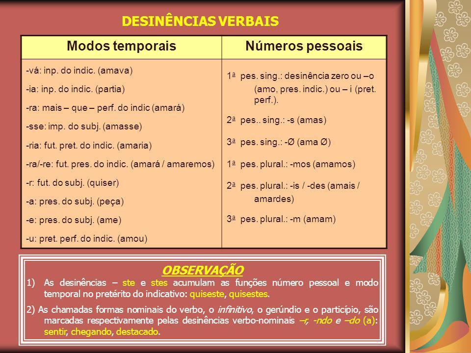 VOGAL TEMÁTICA É a vogal que sucede o radical de verbos ou nomes.