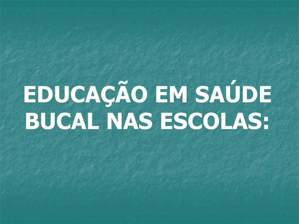 EDUCAÇÃO EM SAÚDE BUCAL NAS ESCOLAS: