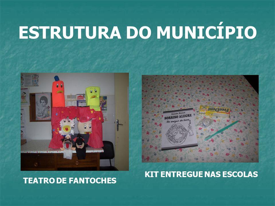 ESTRUTURA DO MUNICÍPIO TEATRO DE FANTOCHES KIT ENTREGUE NAS ESCOLAS