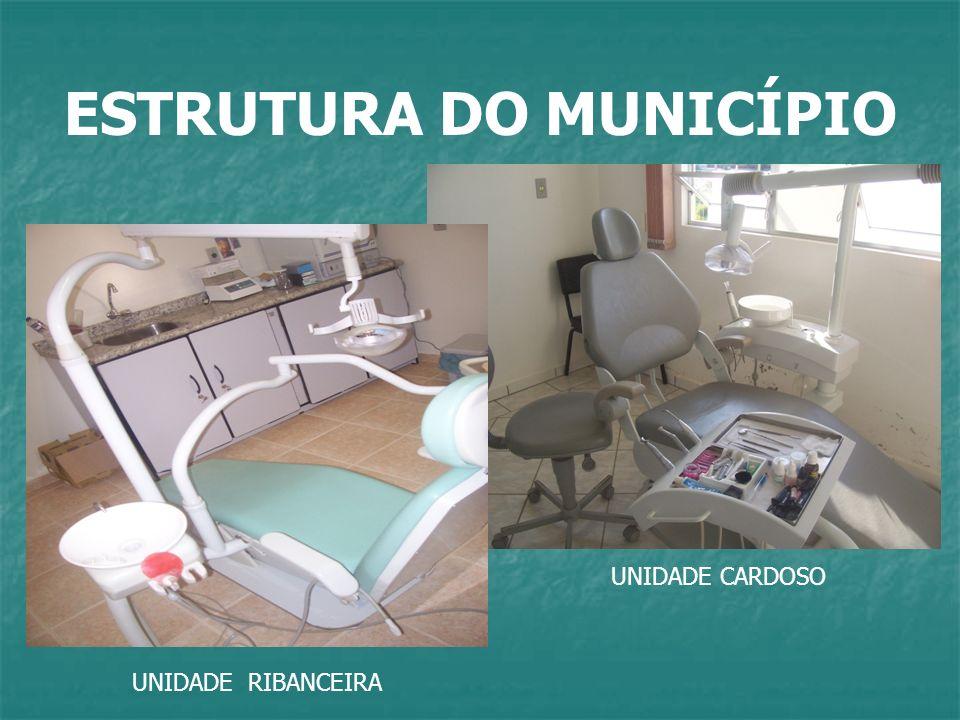 ESTRUTURA DO MUNICÍPIO UNIDADE RIBANCEIRA UNIDADE CARDOSO