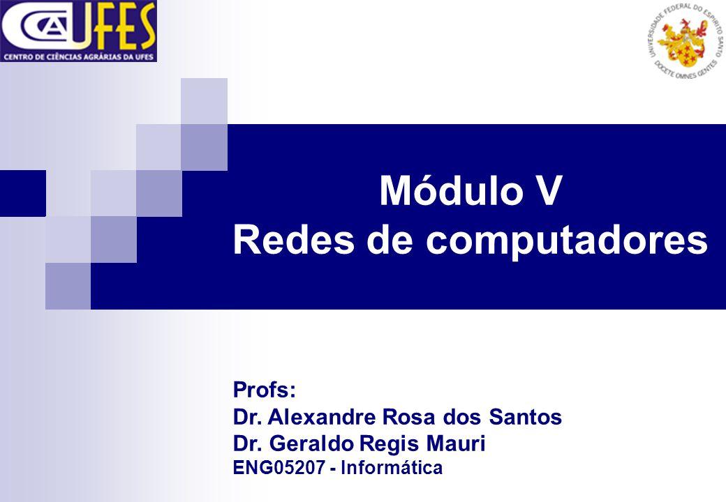 Módulo V Redes de computadores Profs: Dr. Alexandre Rosa dos Santos Dr. Geraldo Regis Mauri ENG05207 - Informática