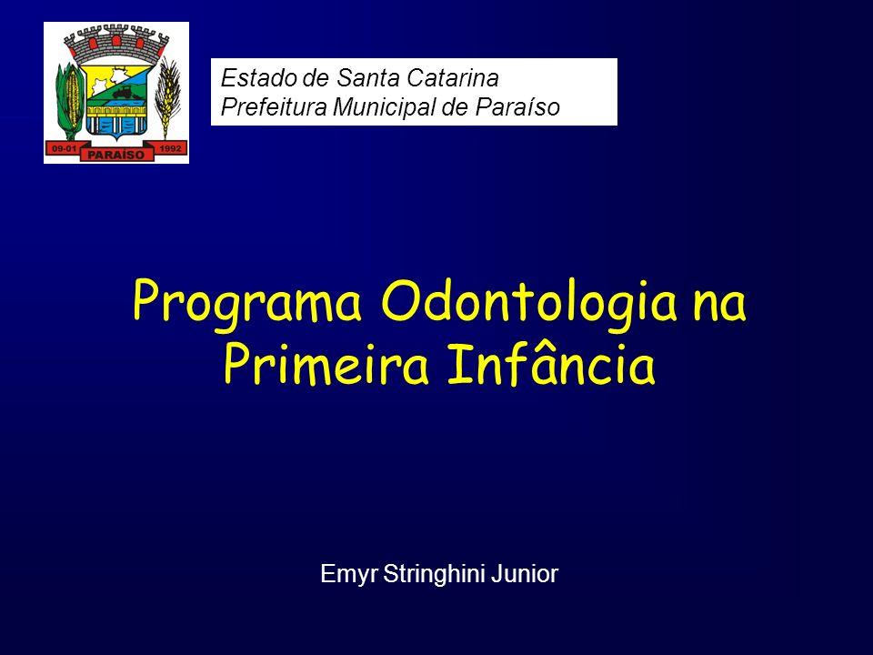 Programa Odontologia na Primeira Infância Emyr Stringhini Junior Estado de Santa Catarina Prefeitura Municipal de Paraíso