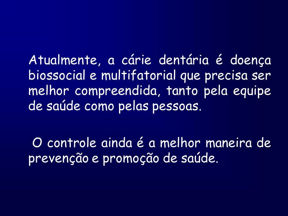 Atualmente, a cárie dentária é doença biossocial e multifatorial que precisa ser melhor compreendida, tanto pela equipe de saúde como pelas pessoas. O