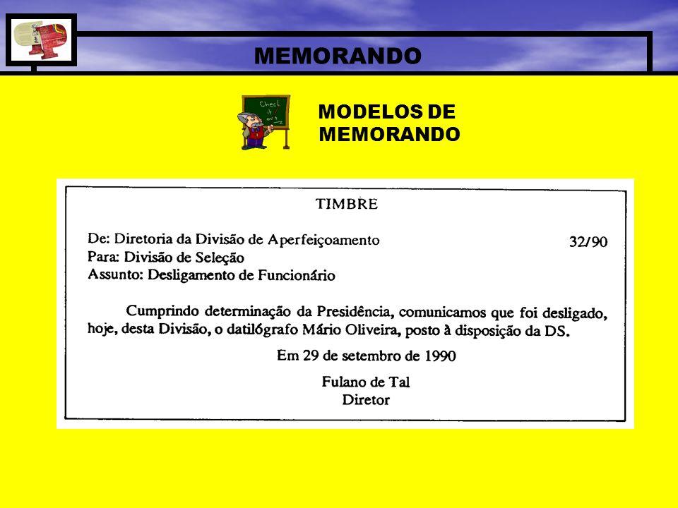 MODELOS DE MEMORANDO
