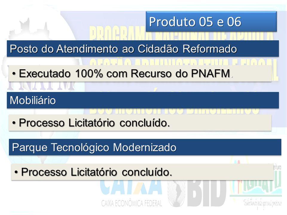 Produto 05 e 06 Posto do Atendimento ao Cidadão Reformado Executado 100% com Recurso do PNAFM.