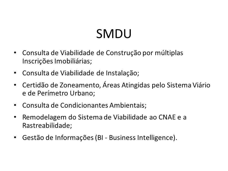 Consulta de Viabilidade de Construção por múltiplas Inscrições Imobiliárias; Consulta de Viabilidade de Instalação; Certidão de Zoneamento, Áreas Atin