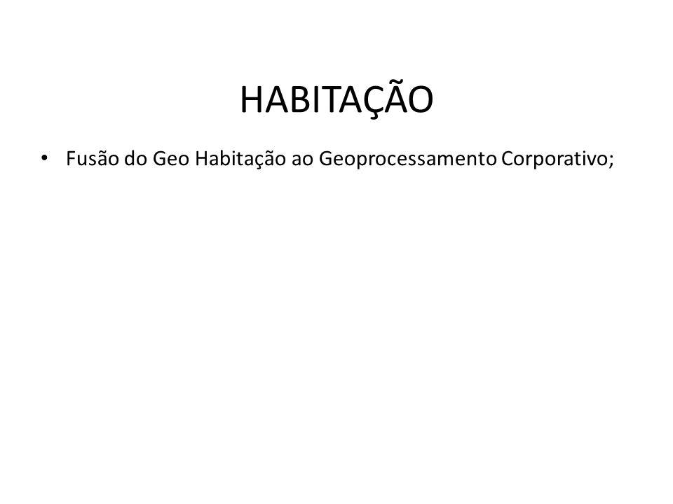 Fusão do Geo Habitação ao Geoprocessamento Corporativo; HABITAÇÃO