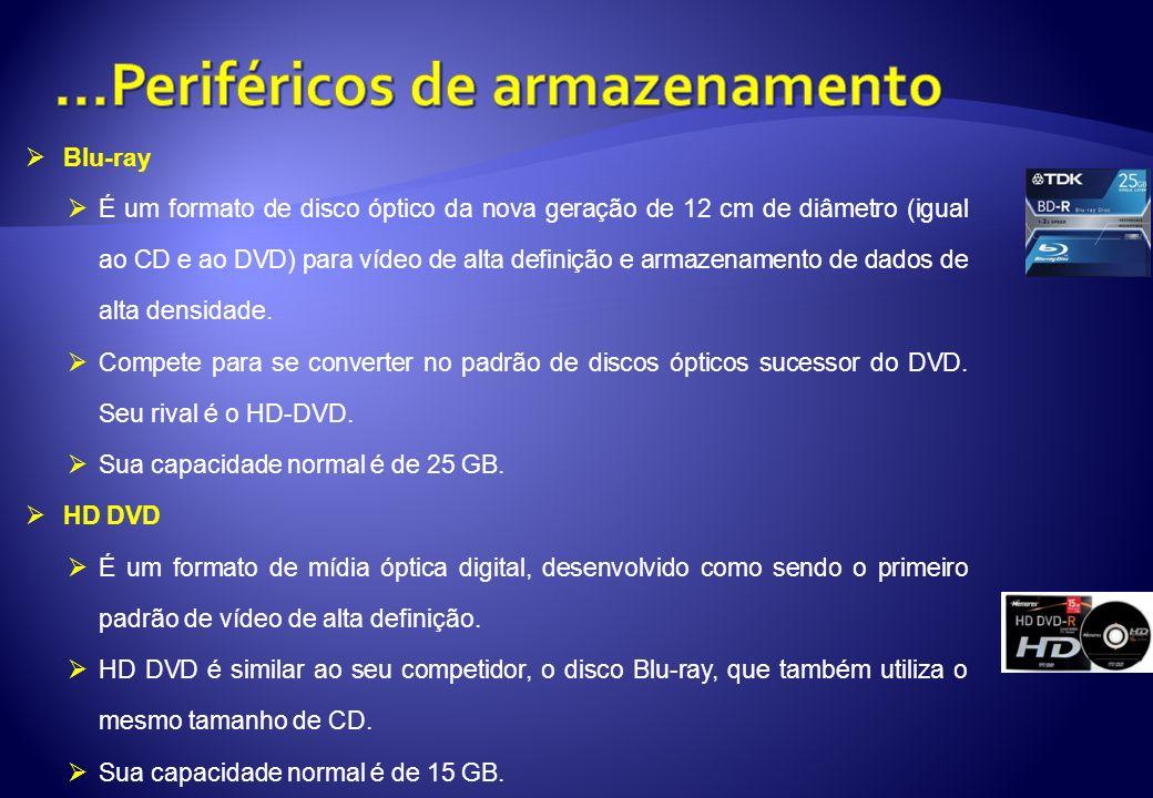 Blu-ray É um formato de disco óptico da nova geração de 12 cm de diâmetro (igual ao CD e ao DVD) para vídeo de alta definição e armazenamento de dados