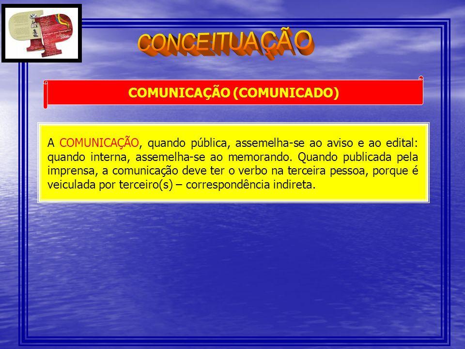 MODELOS DE COMUNICAÇÃO EXTERNA