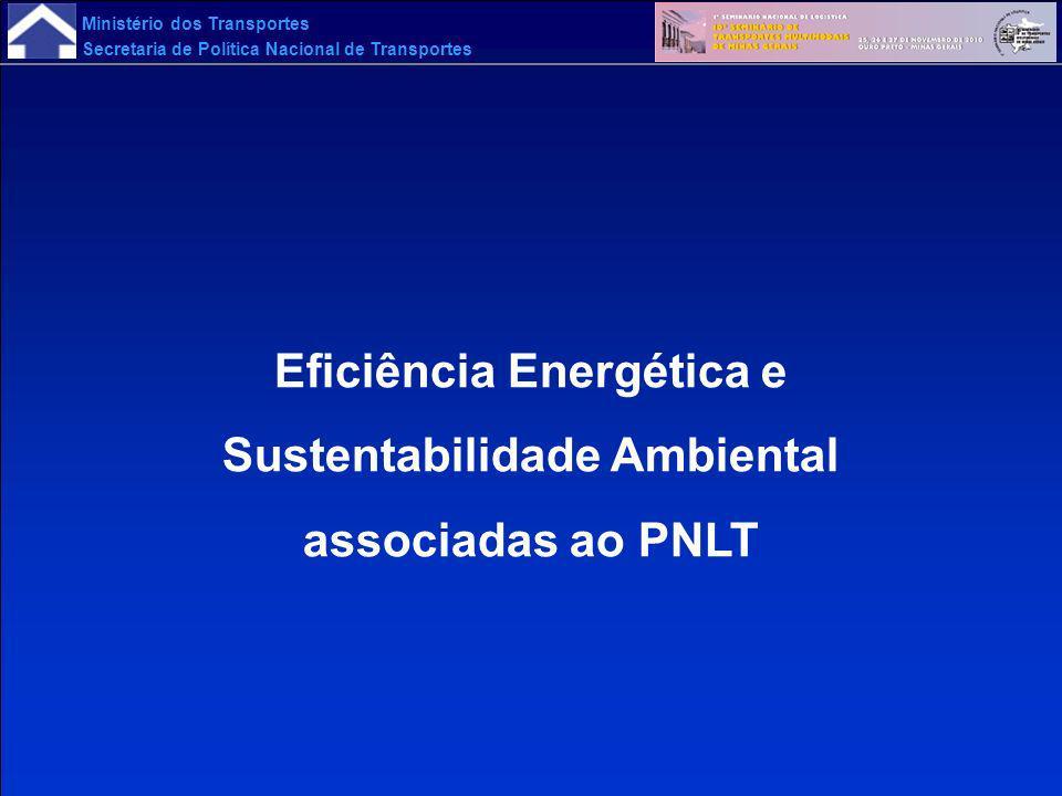 Ministério dos Transportes Secretaria de Política Nacional de Transportes Eficiência Energética e Sustentabilidade Ambiental associadas ao PNLT