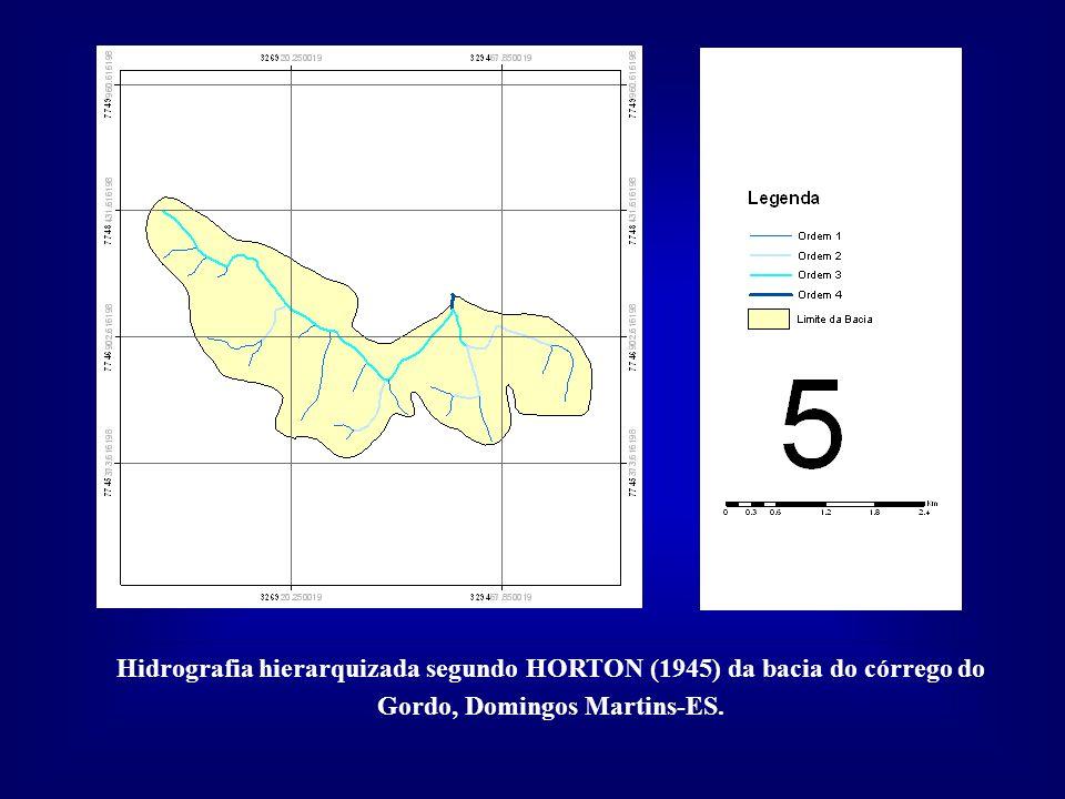 Hidrografia hierarquizada segundo HORTON (1945) da bacia do córrego do Gordo, Domingos Martins-ES.