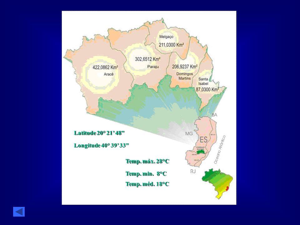Latitude 20° 21 48 Latitude 20° 21 48 Longitude 40° 39 33 Temp. máx. 28°C Temp. máx. 28°C Temp. min. 8°C Temp. méd. 18°C