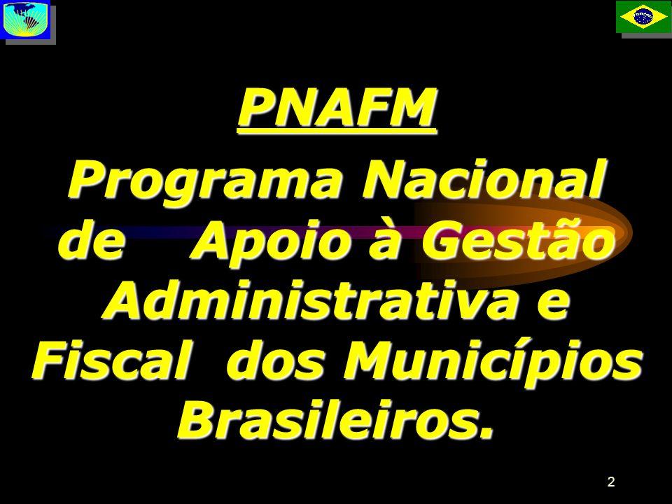 2 PNAFM Programa Nacional de Apoio à Gestão Administrativa e Fiscal dos Municípios Brasileiros. P
