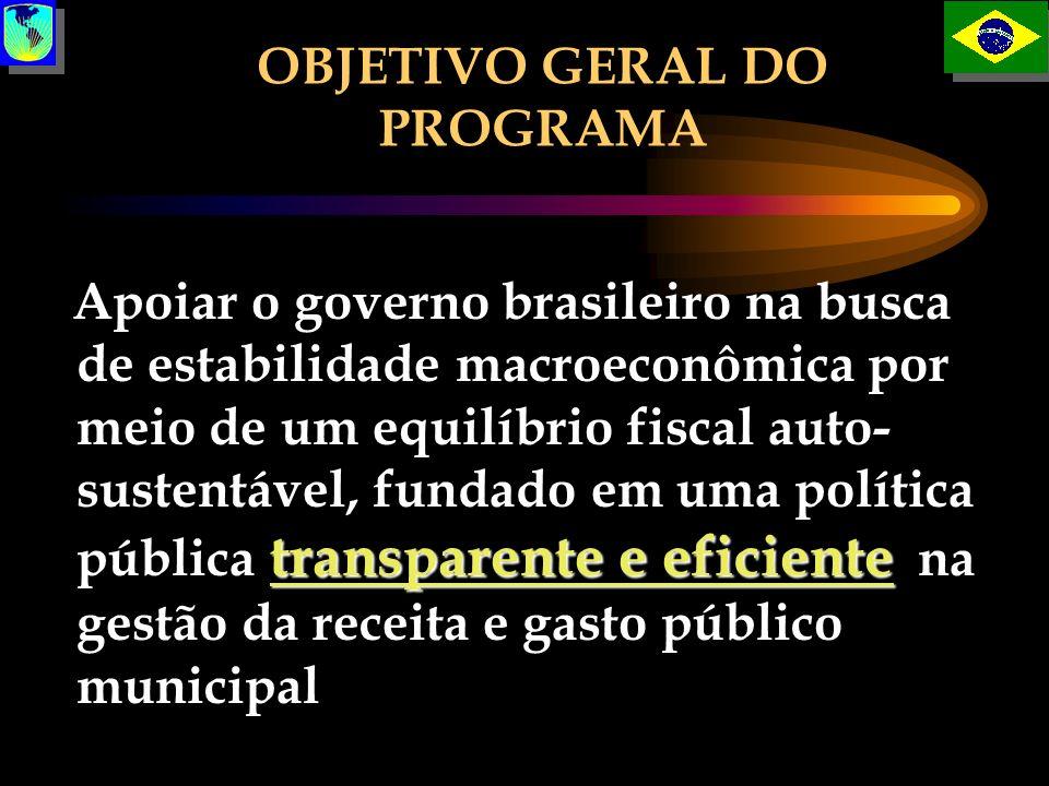 transparente e eficiente Apoiar o governo brasileiro na busca de estabilidade macroeconômica por meio de um equilíbrio fiscal auto- sustentável, funda